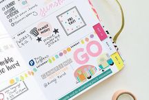 Planners / Organization, inspiration, supplies, etc.