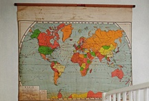 Maps In Home Decor / DIY and craft projects using maps and globes / by Pam @ House of Hawthornes