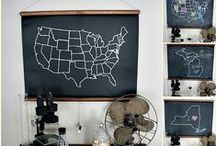 Chalkboard Projects / All about chalkboards, from a free printable, to how to letter a chalkboard and how to DIY one. / by Pam @ House of Hawthornes
