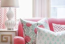 Pink, magenta, rose & blush interiors and room decor / If you like this board check out my other board: pink / by Mary Clare