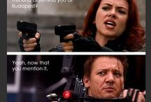 Hawk-eye and Black Widow addiction / yup. I ship them.  Thinking i'm gonna hate the latest avenger.. looks like Joss was doing his best to sink my ship.