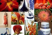 Wedding :: Fall - Orange & Blue / Fall has rich and romantic color palette