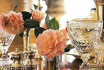 TABLESCAPES • VIGNETTES / Table inspiration. Several of these patterns I own and love to use - visual grace! / by Margianne