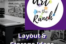 Art Studio - Layout & Storage Ideas /  ideas for the visual structure of classroom: from layout to storage, design, accessories etc.