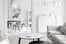 Skandinavian Interior design / Surface, wood materials, scandinavian light and harmony, B&W Style