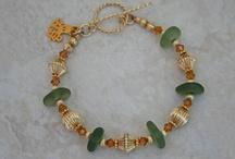 14K Gold Sea Glass Bracelets