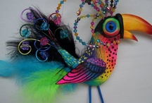 Birds of a Feather, Fabric, Paper, Clay, Nature.......