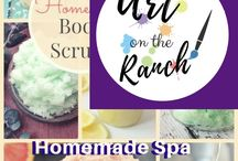 Homemade Spa - Treatments / Make those great scrubs etc at home - for that spa treatment feel year round!