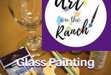 Art Craft Projects - Glass Painting / www.artontheranch.com Glass Painting - painting on glass all types - variety of projects