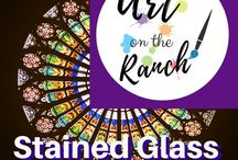 Art Craft Projects - Stained Glass /  Ideas and DIY instructions for Stained Glass - incl faux