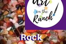 Art Craft Projects - Rock Tumbling / Fun with Rocks - how to tumbling and ideas after - www.artontheranch.com