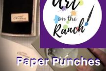 Art Craft Projects - Paper Punches / paper punch ideas - www.artontheranch.com