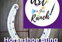 Art Craft Projects - Horseshoe Bling / Ideas and d.i.y.