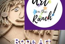 Art Craft Projects - Rope Art