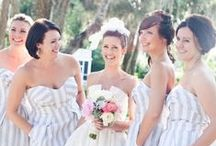 The Wedding Party / Wedding party inspiration: For both the bridesmaids and the groomsmen. Here are some ideas for the perfect gifts, outfits and most importantly your wedding picture poses!