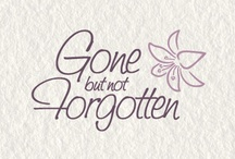 gone but not forgotten, from TV / by Sherry Davis