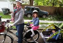 Cargo Bike with Kids! / Bicycling with small children, bikes as transportation, LessCAR moreGO, Carrying cargo on bikes, How to make second seat on your bike for child.