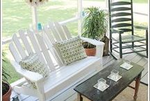 Porch Decorating Ideas / For more decorating ideas stop by: http://www.decorating-ideas-made-easy.com / by Jennifer Decorates