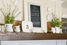 Fireplace Mantel Decorating / For more decorating ideas stop by: http://www.decorating-ideas-made-easy.com / by Jennifer Decorates