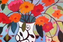 Annie O'Brien Gonzales  / Joyful floral paintings by the artist