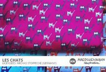 MW LES CHATS - CAT MEAW Patterndesign for Michas Stoffecke / Maedchenwahn c/o Izabella Markiewicz Patterndesign for Michas Stoffecke, 2013  Feel free to enquire me about pattern licensing or wholesale conditions. Contact me for any questions!  KONTAKT@MAEDCHENWAHN.COM
