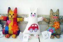 gatos/cats-moldes e idéias / by Soraya Rejane Correia