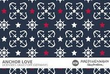 MW ANCHOR LOVE Patterndesign for Lillestoff / Feel free to enquire me about pattern licensing or wholesale conditions. Contact me for any questions!   kontakt@maedchenwahn.com  Maedchenwahn Surfacedesign for Lillestoff  Design: Anchor Love  Maedchenwahn fabric designs are produced in cooperation with the textile company lillestoff GmbH. For more informations and wholesale condotions please contact lillestoff GmbH. Please send inquiries to: info@lillestoff.com
