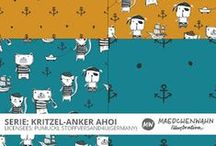 MW KRITZEL AHOI Pattern Design for Pumuckl Stoffversand4u / Feel free to enquire me about pattern licensing or wholesale conditions. Contact me for any questions!   kontakt@maedchenwahn.com  Maedchenwahn Surfacedesign for Pumuckl Stoffversand4u Design: KRITZEL AHOI