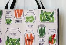 -JIGGETY PIG- / My Etsy shop featuring a line of eco-friendly shopping bags with bold graphics!