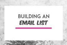Email List Tips / Email list and newsletter tips. Includes convertkit, leadpages, mailchimp, list building tips and strategies for online entrepreneurs, etsy shop owners and handmade businesses.