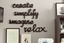 """Studio Style /  """"An artist's studio should be a small space because small rooms discipline the mind and large ones distract it."""" -Leonardo da Vinci"""