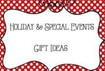 Holidays - Gifts / Gift ideas for all occasions, holidays, birthdays, long distance, gift baskets, teacher appreciation, thank you, Just Because, kids, adults, birthday, and more