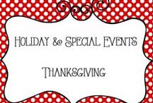 Holidays - Thanksgiving / Holiday and Special Events - Thanksgivng  Collection of ideas for decorations, food, traditions, family fun, activities for the kids, etc