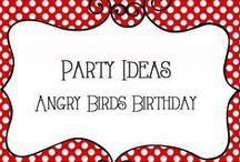 Party - Angry Birds / Angry Birds Birthday Party Ideas - decorations, food, games, etc
