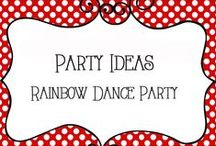 Party - Rainbow Dance / Birthday Party ideas - all things ranbow colored and dance themed