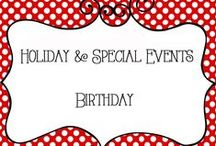 Holidays - Birthday / Holiday and Special Events Birthday Board, collection of ideas for parties, cards, decorations, games, gift ideas and more