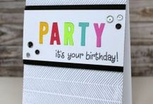 Let's Party - Lawnscaping Challenges  / Party, Birthday, and Celebration handmade cards. Stamping. Techniques. / by Lawnscaping Challenges