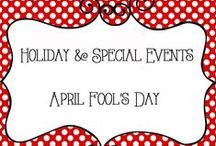 Holidays - April Fools / Holidays and Special Events - April Fool's Day  Ieas for family fun, pranks, traditions