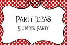 Party - Slumber Party / Slumber Party Ideas, activities, crafts, spa ideas, invitiations, decorations, pampering