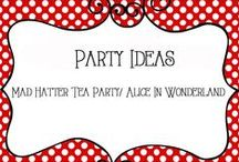 Party - Mad Hatter Tea Party / Birthday Party Ideas for Mad Hatter Tea Part and Alice In Wonderland theme.  Includes ideas for decorations, food, activities, and more