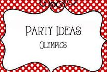 Party - Olympic Theme / Olympic Party Ideas for activities, fun for the kids, crafts, food