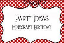Party - Minecraft Birthday / Minecraft Birthday Party Ideas including invitations, games, activites, decorations, food, crafts, creeper, steve
