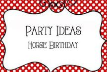 Party - Horse Birthday / Horse Birthday Party Ideas including decorations, activities, food, invitations and more
