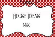 House Ideas - Misc / Random Ideas for the home, home decor, decorations, organization, tips and tricks