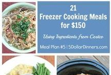 Plan #5A: 21 FF Meals for $150 / Join us with out 5th Meal Plan from Costco for 21 meals for $150!  All of these meals are freezer friendly, so make them today and have a month's worth of meals in your freezer!  See all my recipes at 5DollarDinners.com / by $5 Dinners {Erin Chase}