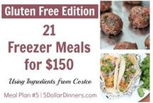 Plan #5B: 21 GF Meals for $150 / Our Gluten-Free version of the 21 Freezer Cooking Meals from Costco for $150!  See all of the recipes including dozens of gluten-free deliciousness at 5DollarDinners.com / by $5 Dinners {Erin Chase}