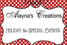 Creations - Holiday and Events / Collection of Ideas and Tips for Holidays and Special Events including birthdays, parties, Elf on the Shelf