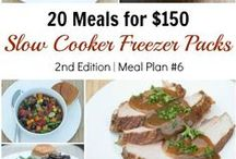Plan #6: 20 Meals for $150 / We are excited to announce our SIXTH Costco Meal Plan!  This is the second edition of our 20 Slow Cooker Freezer Packs for $150!  See all the details on 5DollarDinners.com! / by $5 Dinners {Erin Chase}