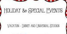 Vacation - Disney and Universal Studios / Vacation ideas and tips for Disneyland, Disney World, Universal studios
