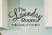 Everything Laundry Rooms / Cute ideas for decorating, organizing, and creating the laundry room of my dreams.